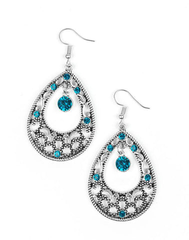 "Paparazzi Accessories - Paparazzi ""Gotta Get That Glow"" - Blue - Earrings"
