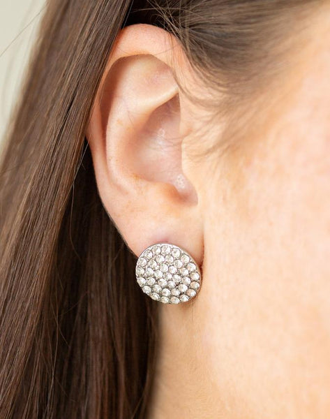 "Paparazzi Accessories - Paparazzi ""Greatest Of All Time"" - White Earring - Earrings"