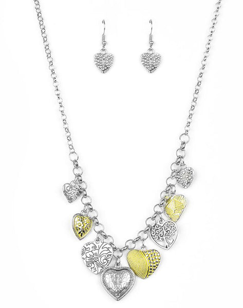 "Paparazzi Accessories - Paparazzi ""Grow Love"" - Yellow - Necklaces"