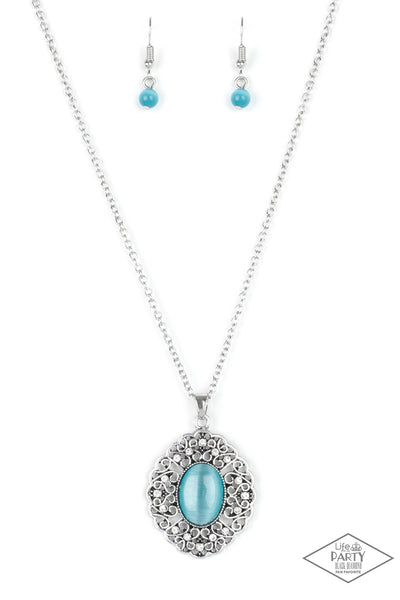 Paparazzi Accessories - Paparazzi Necklace - Heart Of Glace - Blue - Necklaces