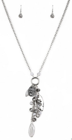 Paparazzi Accessories - Hearts Content - Silver Necklace Set - Necklaces