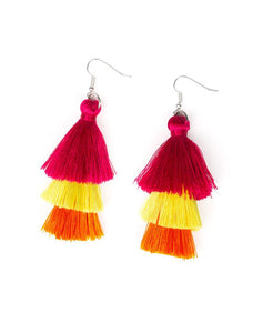 "Paparazzi Accessories - Paparazzi ""Hold On To Your Tassel!"" - Multi - Earrings"