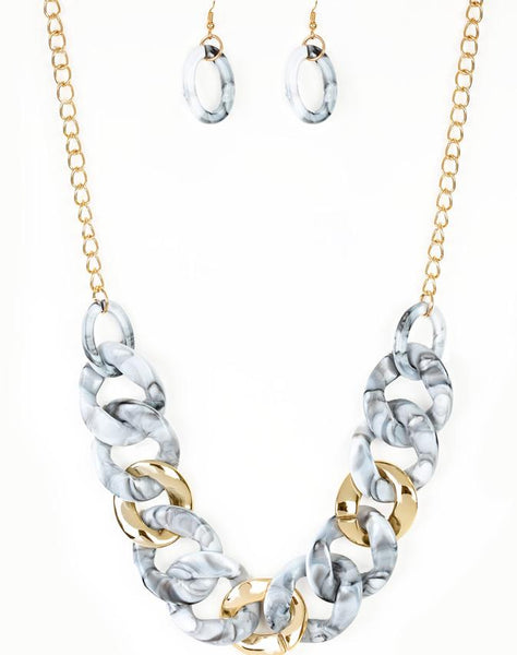"Paparazzi Accessories - Paparazzi ""I Have A HAUTE Date"" - White - Necklaces"