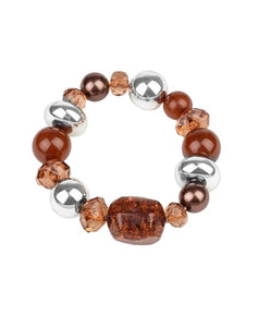 "Paparazzi Accessories - Paparazzi ""Ice Ice-Breaker"" - Brown - Bracelets"