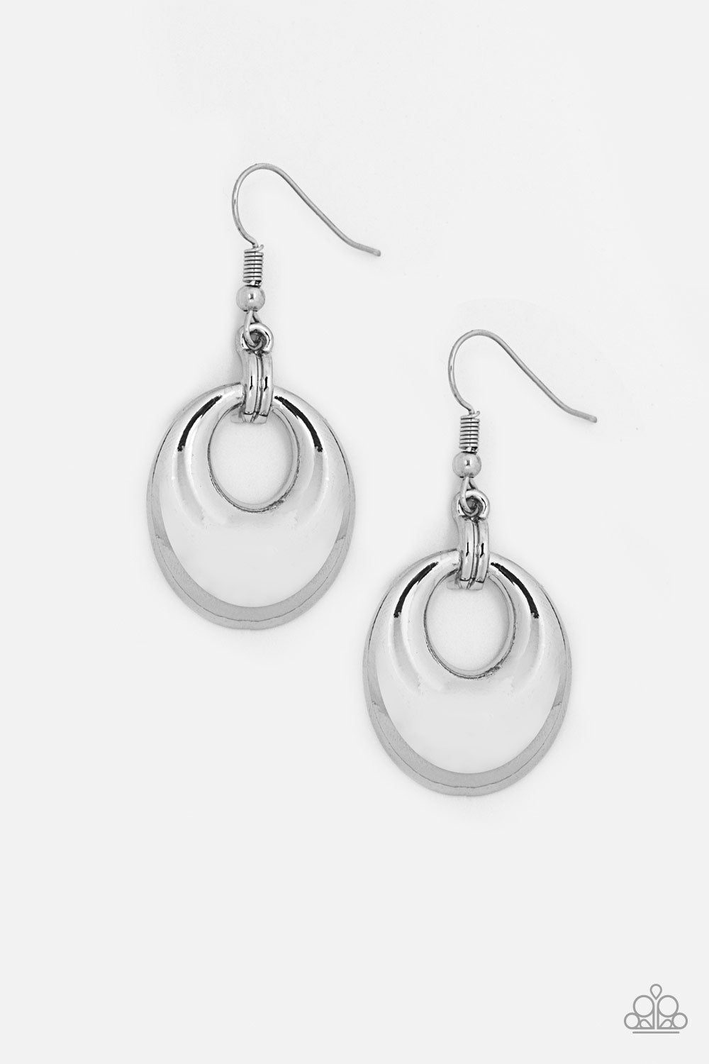 Paparazzi Accessories - Paparazzi In The BRIGHT Place At The BRIGHT Time - Silver Earring - Earrings