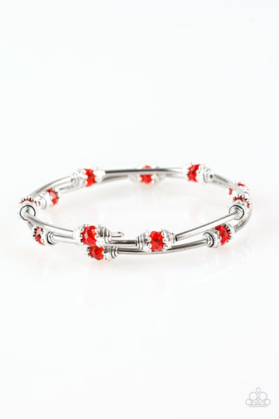 "Paparazzi Accessories - Paparazzi Bracelet ""Into Infinity"" Red - Bracelets"
