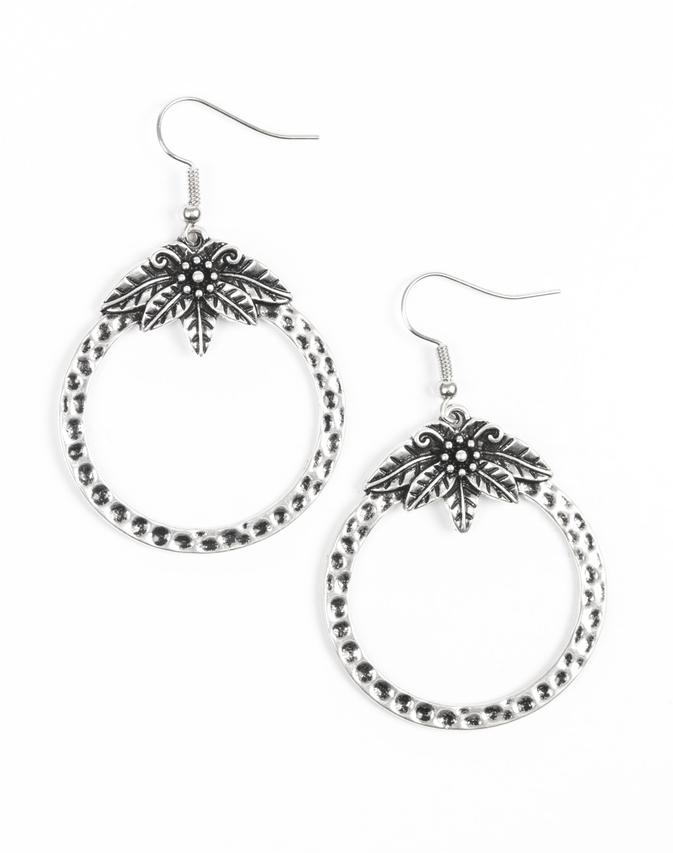 "Paparazzi Accessories - Paparazzi ""Island Insider"" - Silver Earring - Earrings"