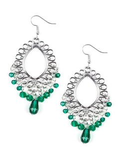 Paparazzi Accessories - Paparazzi Earring - Just Say NOIR - Green - Earrings