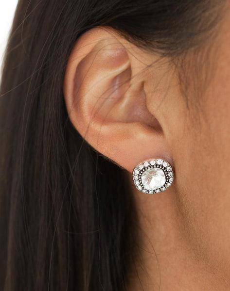 "Paparazzi Accessories - Paparazzi ""Latest Luxury"" - White - Earrings"