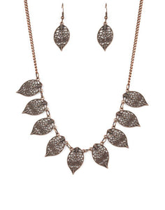"Paparazzi Accessories - Paparazzi ""Leafy Lagoon"" - Copper - Necklaces"