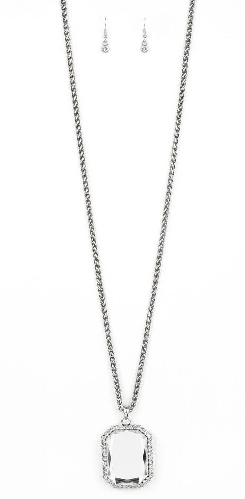 "Paparazzi Accessories - Paparazzi ""Let Your HEIR Down"" - White - Long Necklace"