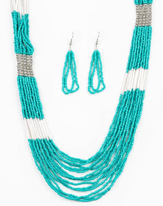 "Paparazzi Accessories - Paparazzi ""Let It BEAD"" - Blue - Necklaces"
