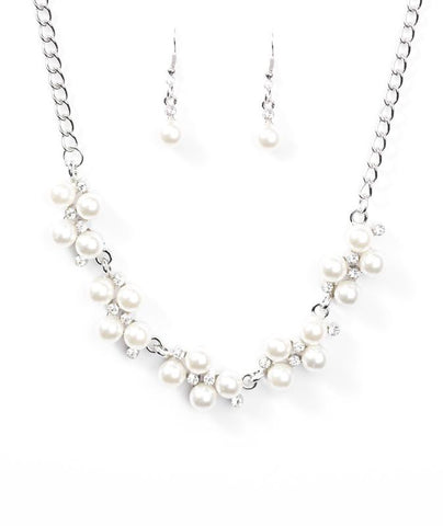 "Paparazzi Accessories - Paparazzi ""Love Story""- White - Necklaces"