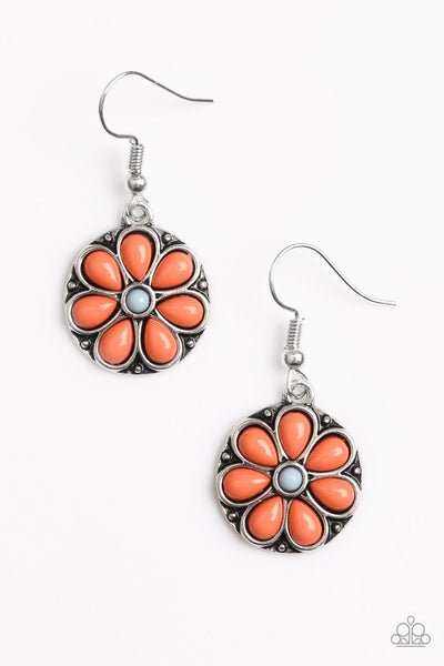 Paparazzi Accessories - Paparazzi Earring - MARIGOLD Rush - Orange - Earrings