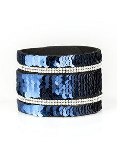 "Paparazzi Accessories - Paparazzi ""MERMAID Service"" - Blue Sequins Bracelet - Bracelets"