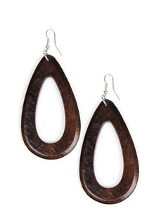 Paparazzi Accessories - Malibu Mimosas Brown Earring - Earrings