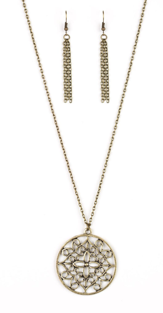 "Paparazzi Accessories - Paparazzi ""Mandala Melody"" - Brass - Necklaces"