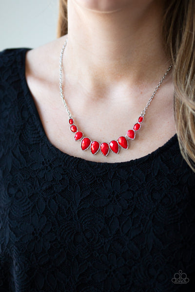 Paparazzi Accessories - Paparazzi Necklace - Maui Majesty - Red - Necklaces