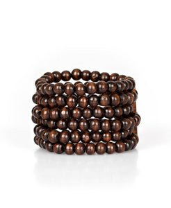 Paparazzi Accessories - Maui Mojito Brown Bracelet - Bracelets