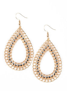 "Paparazzi Accessories - Paparazzi ""Mechanical Marvel"" - Gold - Earrings"