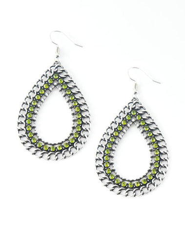 "Paparazzi Accessories - Paparazzi ""Mechanical Marvel"" - Green - Earrings"