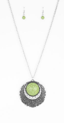 "Paparazzi Accessories - Paparazzi ""Medallion Meadow"" - Green - Necklaces"