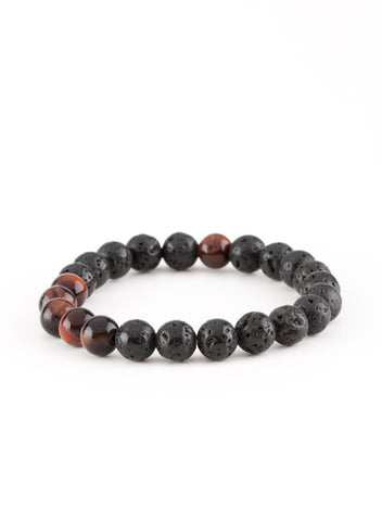 Paparazzi Accessories - Paparazzi - Meditation - Black Lava Rocks Bracelet - Bracelets