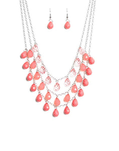"Paparazzi Accessories - Paparazzi ""Melting Ice Caps"" - Pink - Short necklace"