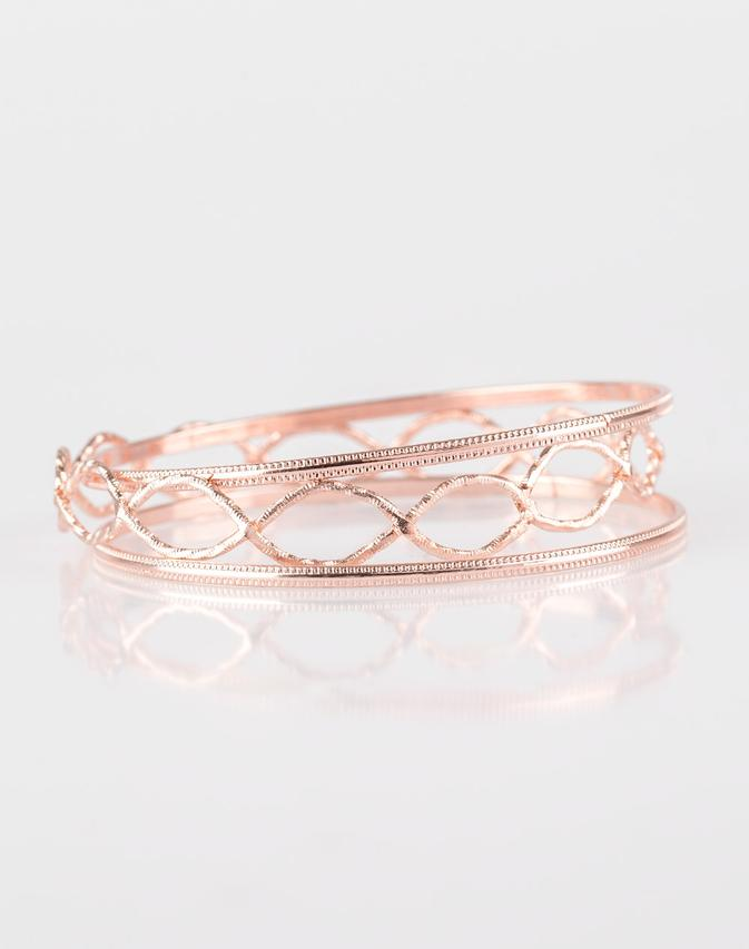 "Paparazzi Accessories - Paparazzi ""Metal Manic"" - Rose Gold Bracelet - Bracelets"