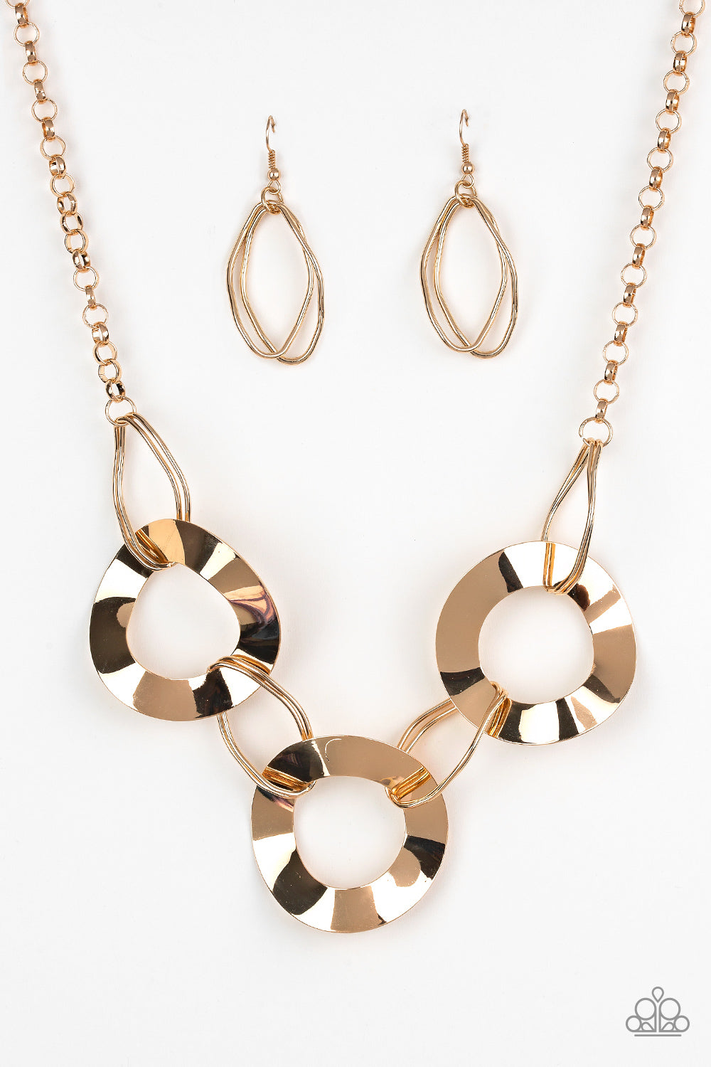 Paparazzi Accessories - Paparazzi Necklace - Modern Mechanics- Gold - Necklaces