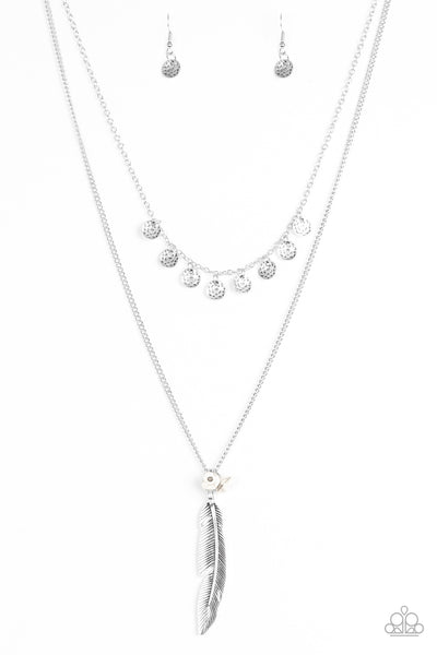 Paparazzi Accessories - Paparazzi Necklace - Mojave Musical - Silver - Necklaces