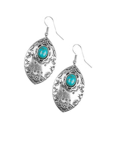 "Paparazzi Accessories - Paparazzi ""Mountain Montage"" - Blue - Earrings"