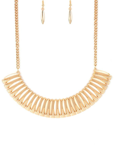 "Paparazzi Accessories - Paparazzi ""My Main MANE"" - Gold - Necklaces"