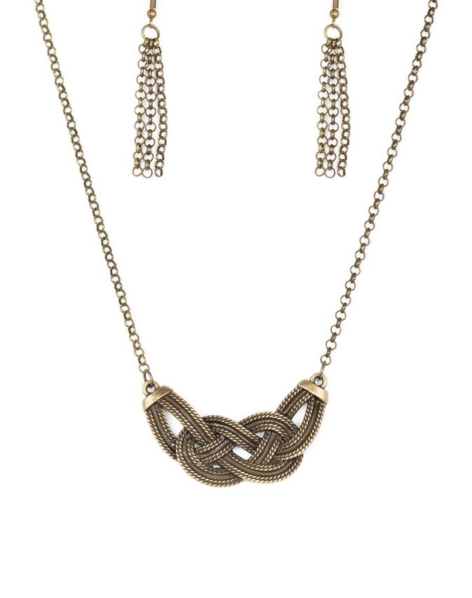 Paparazzi Accessories - Nautically Naples  Brass Necklace - Necklaces