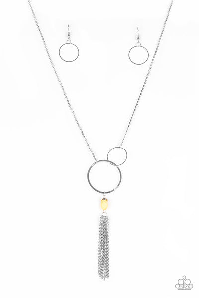 Paparazzi Accessories - Paparazzi Necklace -  Offshore Odyssey- Yellow - Necklaces