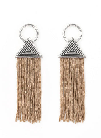 "Paparazzi Accessories - Paparazzi ""Oh My GIZA"" - Brown - Earrings"