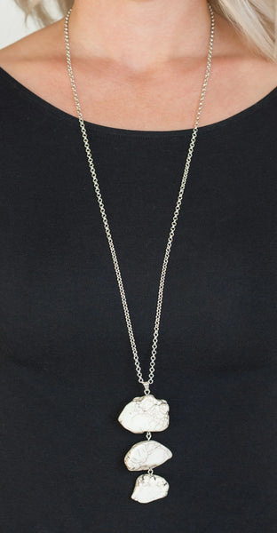 "Paparazzi Accessories - Paparazzi ""On The ROAM Again"" - White - Necklaces"
