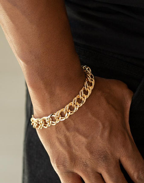 "Paparazzi Accessories - Paparazzi ""On The Ropes"" - Gold - Bracelets"