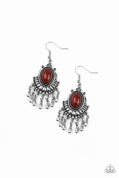 Paparazzi Accessories - Paparazzi Earring - Onward and Westward - Brown - Earrings