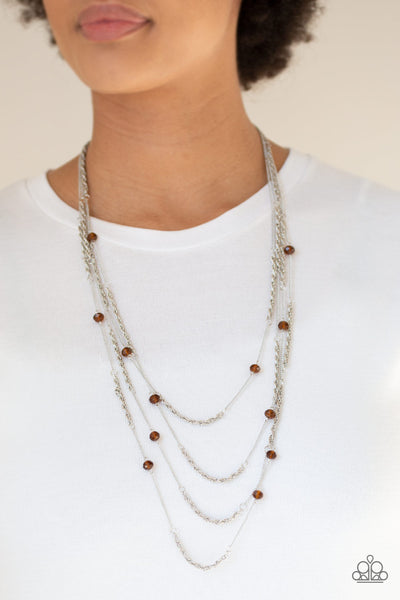 Paparazzi Accessories - Open For Opulence - Brown - Necklaces