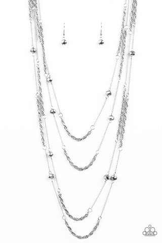 "Paparazzi Accessories - Paparazzi ""Open For Opulence"" - Silver - Necklaces"
