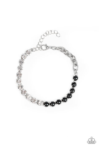 "Paparazzi Accessories - ""Paparazzi ""Out Like A SOCIALITE"" - Black - Bracelets"
