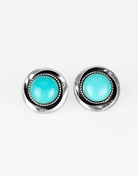 Paparazzi Accessories - Out Of This Galaxy - Blue  Earring - Earrings