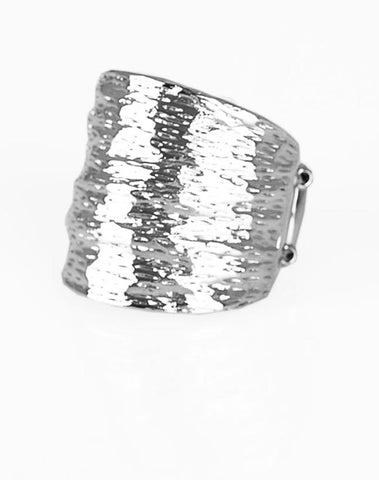 "Paparazzi Accessories - Paparazzi ""Paleo Patterns"" - Silver - Rings"