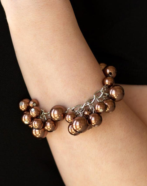 "Paparazzi Accessories - Paparazzi ""Girls In Pearls"" - Brown - Bracelet"