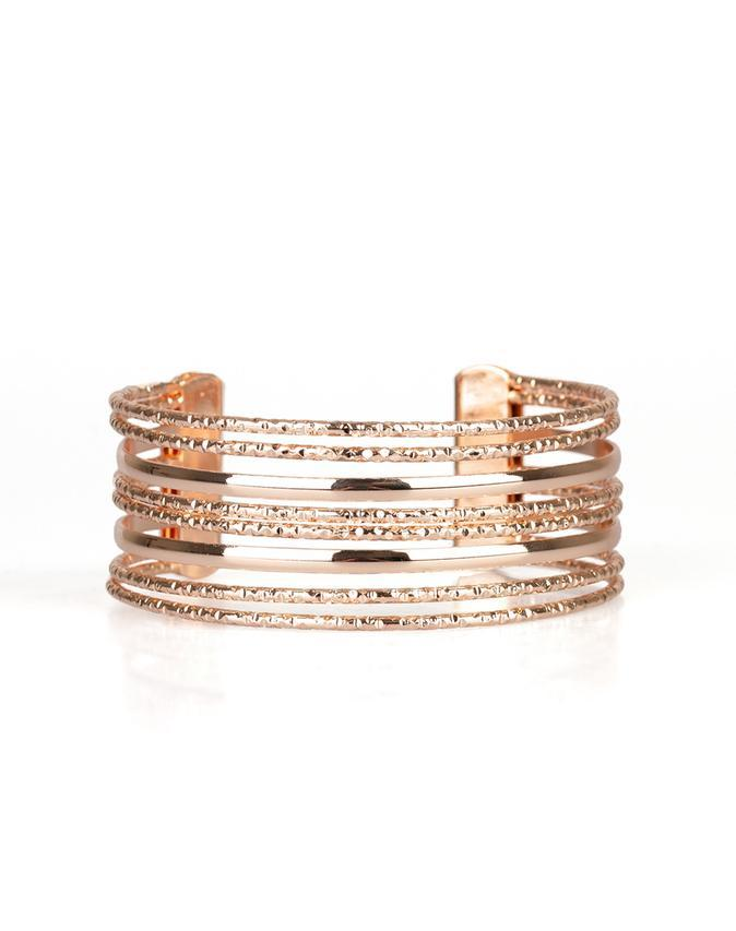 "Paparazzi Accessories - Paparazzi ""Stack Shack"" - Rose Gold - Bracelet"