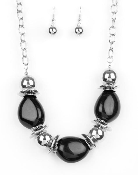 "Paparazzi Accessories - Paparazzi ""Vivid Vibes"" - Black - Short necklace"