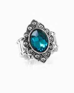 Paparazzi Accessories - Power Behind The Throne - Blue - Ring - Rings