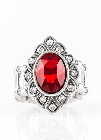 Paparazzi Accessories - Power Behind The Throne - Red - Ring - Rings