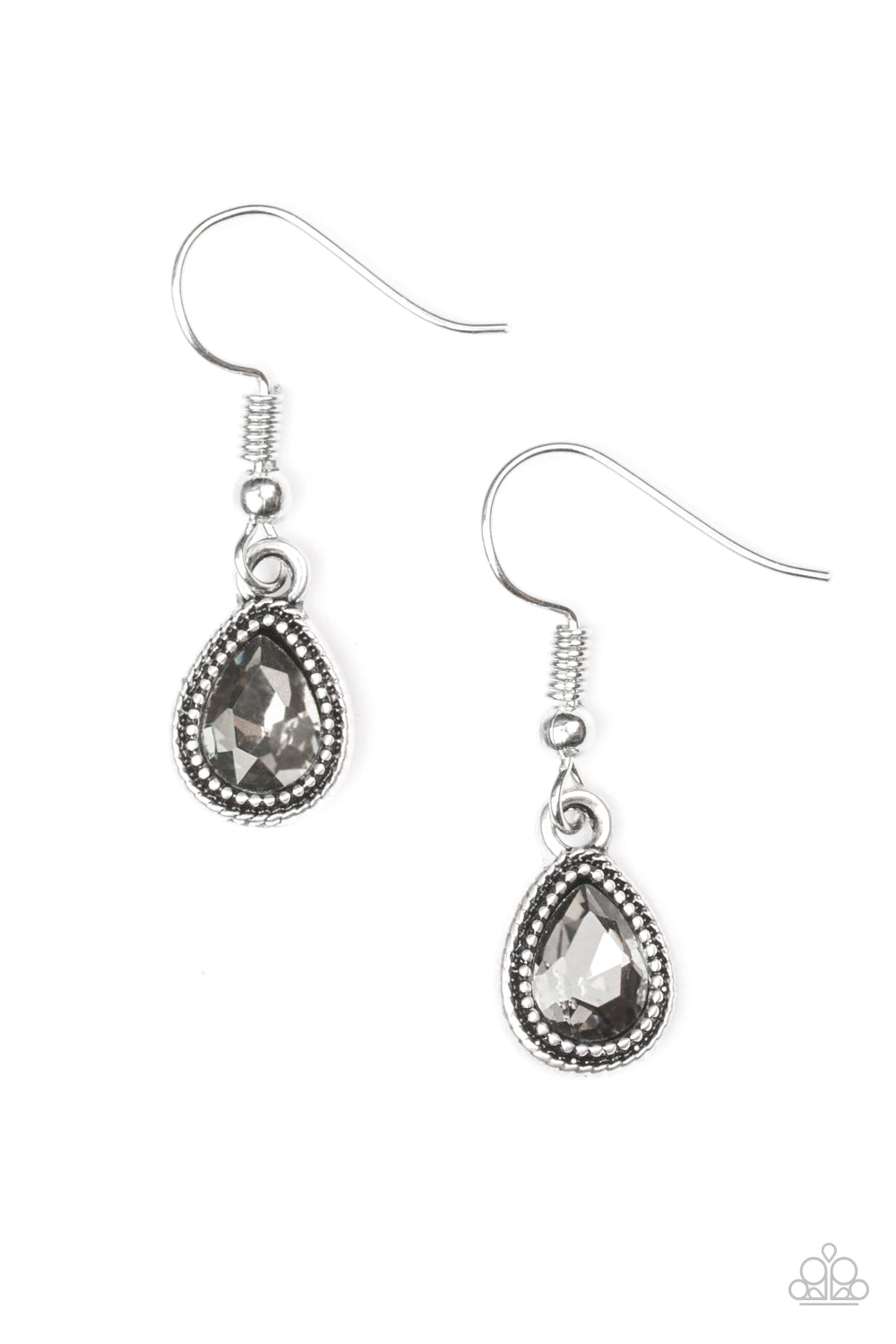 Paparazzi | Princess Priority | Silver Teardrop Earring